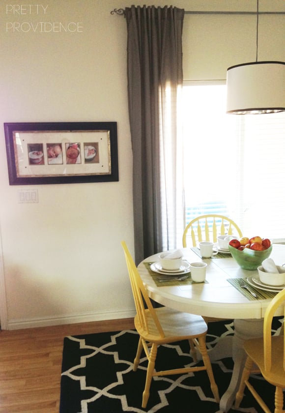 Dining room makeover on a budget!