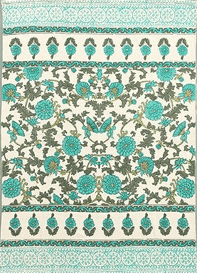 turquoise floral rug - urban outfitters $69 | this post has more rugs under $100!
