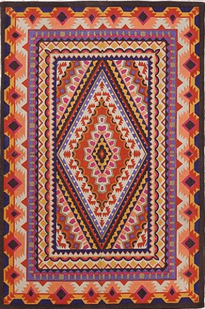 medallion rug - urban outfitters $69 | this post has a bunch of rugs under $100!