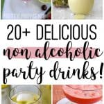 collage image of non alcoholic drink recipes optimized for Pinterest