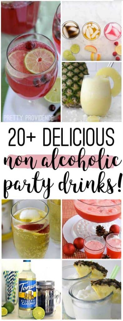 All of these NON ALCOHOLIC party drinks look amazing!!!