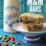 Oatmeal Fudge M&M Bars - Most delicious treat. Everyone will devour these at your next party!