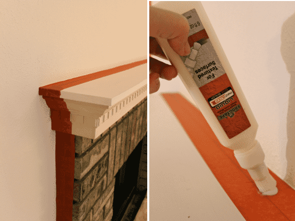 taping textured surface