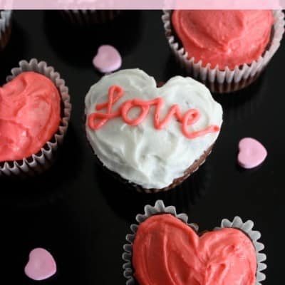 Heart Cupcakes (from a muffin tin)