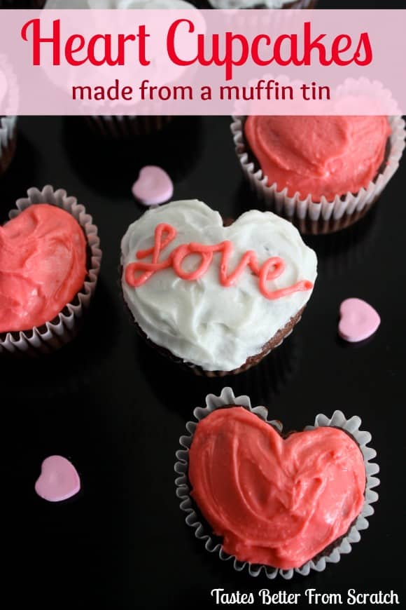 Heart Cupcakes are easy to make with marbles and a muffin pan!