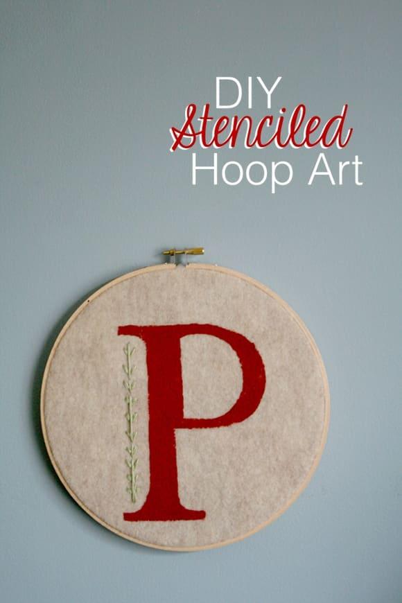 Easy DIY: Easy Monogrammed Hoop Art!