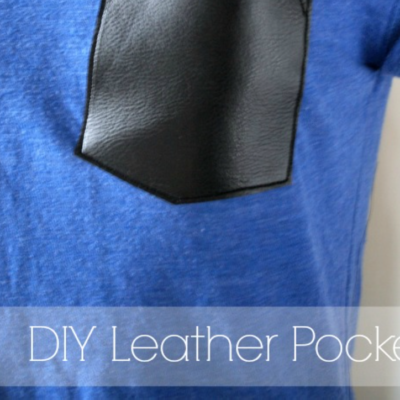 DIY Leather Pocket