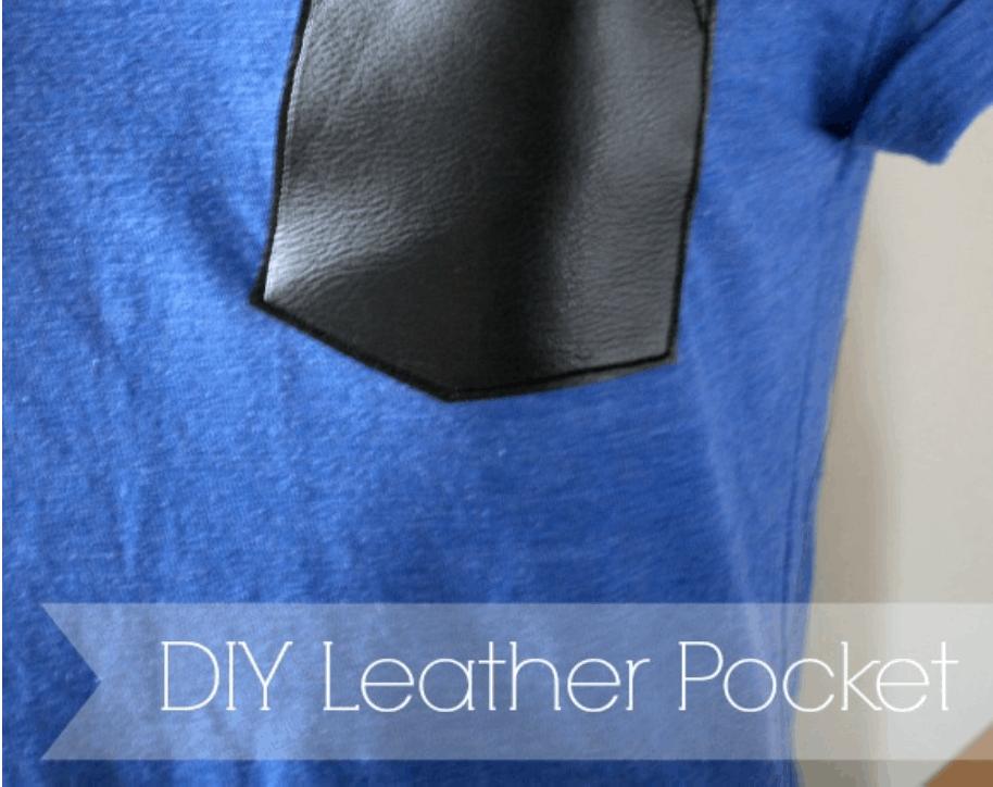 DIY Leather Pocket