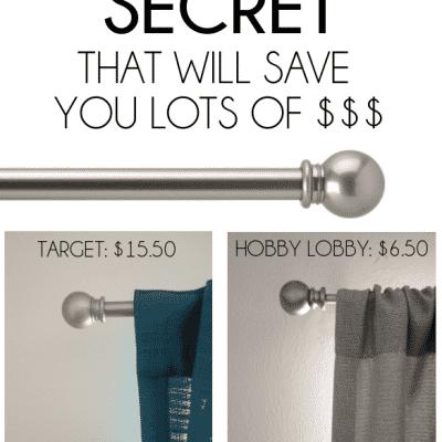 Curtain Rod Secret!