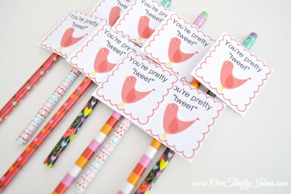 free printable valentine - you're pretty tweet!