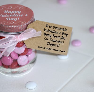 Free Printable Valentine's Day Baby Food Jar (or Cupcake) Toppers!