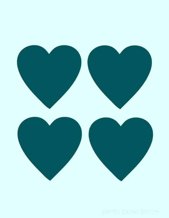 free print: hearts