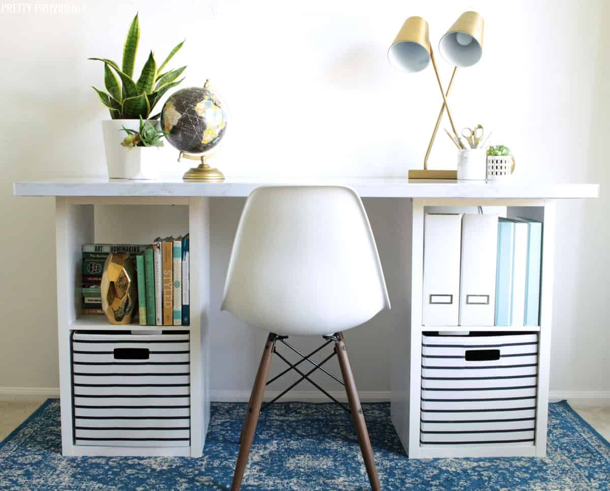 IKEA HACK   Easy DIY Desk For Under $60