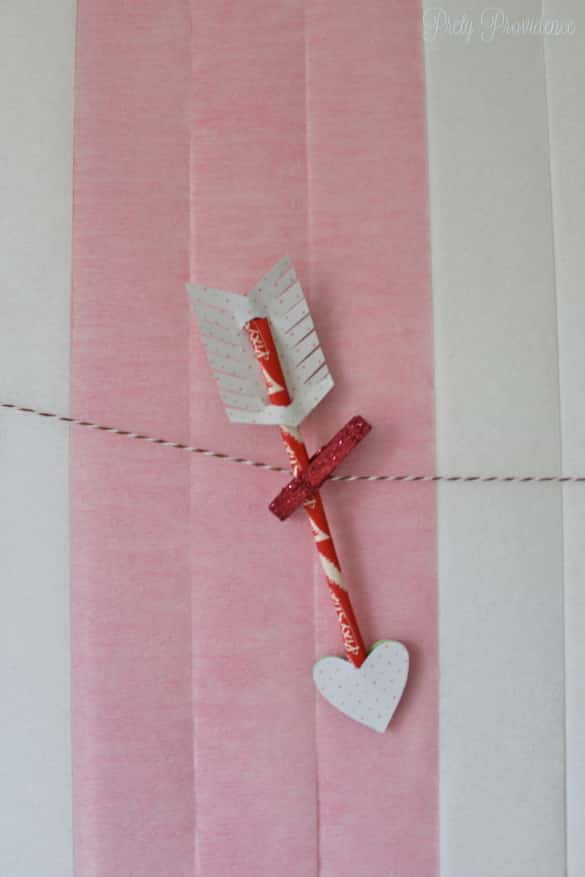 Pixie Stix arrows for Valentine's Day