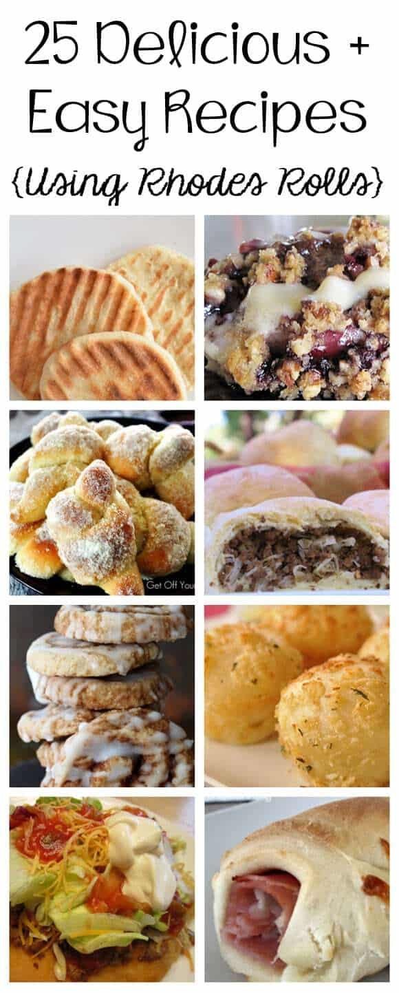 tons of recipes you can make with rhodes rolls!