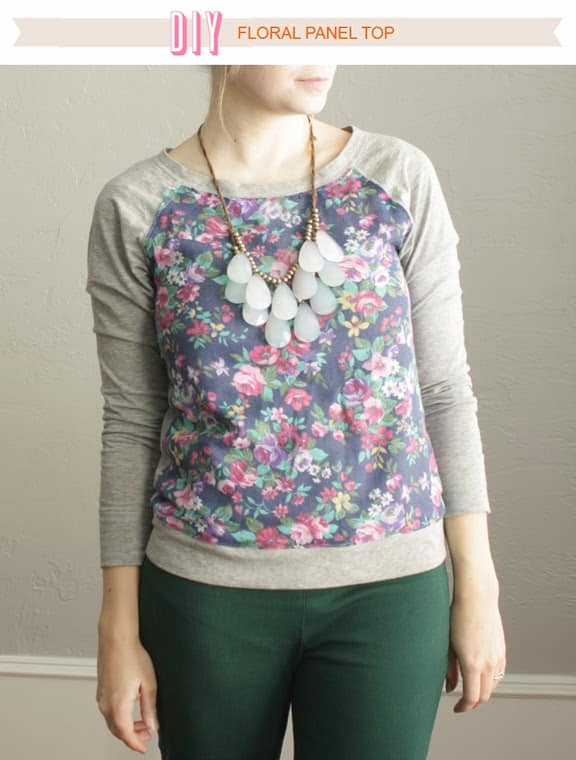 DIY Floral Panel Top - Uber Chic for Cheap