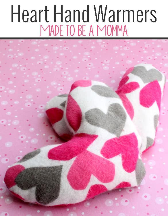 Heart Hand Warmers Made to be a Momma