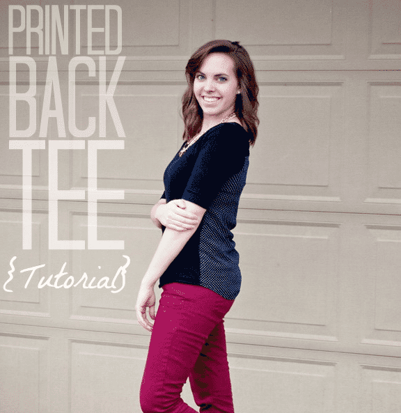 DIY Printed Back Tee - Pretty Providence