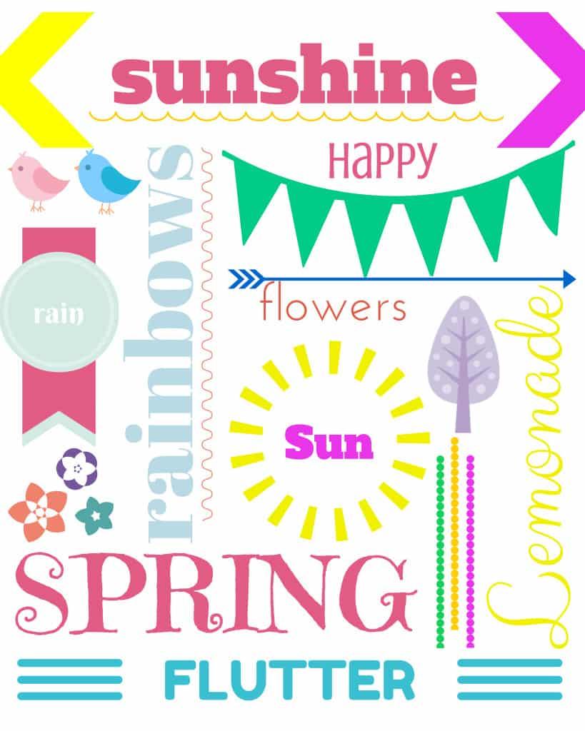 Spring Printable 8x10