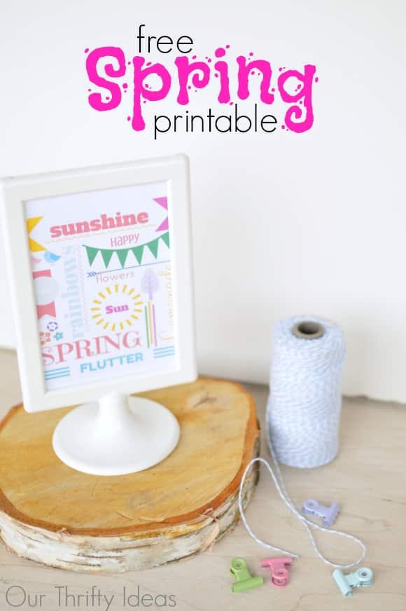 FREE printable to display for Spring