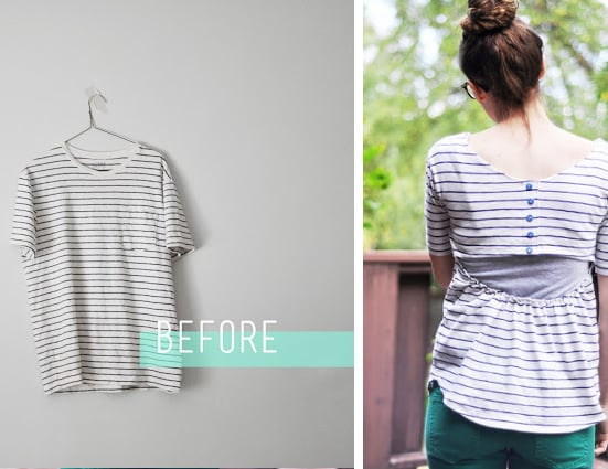 Men's Tee to Open-Back Top - Cotton and Curls