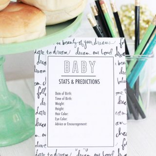 Free Printable Baby Predictions Cards