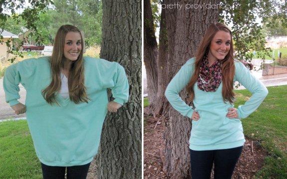 Thrifted Sweatshirt Re-fashion - Pretty Providence