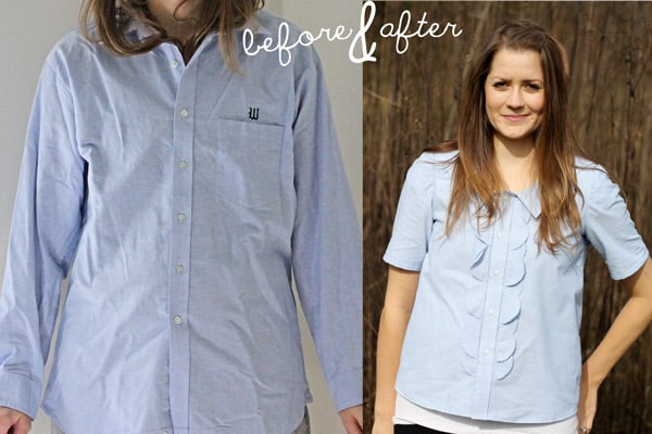Men's shirt Refashion - See Kate Sew