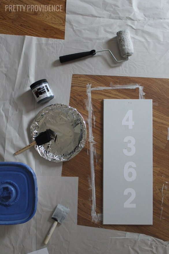 DIY Modern House Numbers Sign o