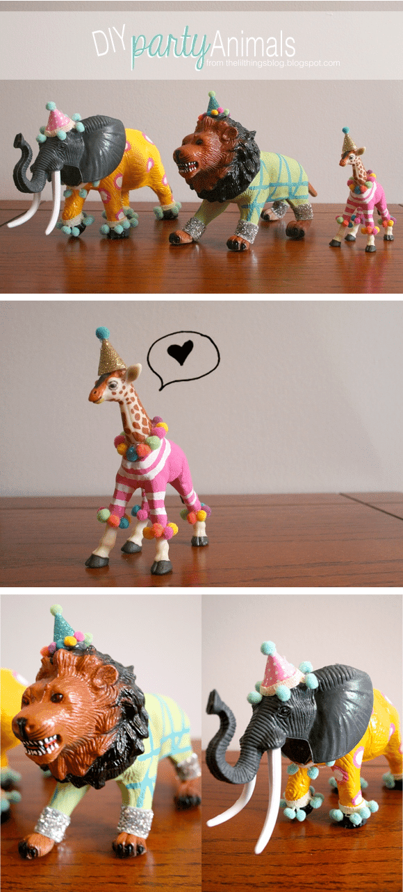 party animals! DIY for birthdays