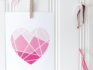 Ombre Heart Valentine's Day Printable