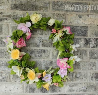 DIY Spring Wreath & Modern House Numbers Sign