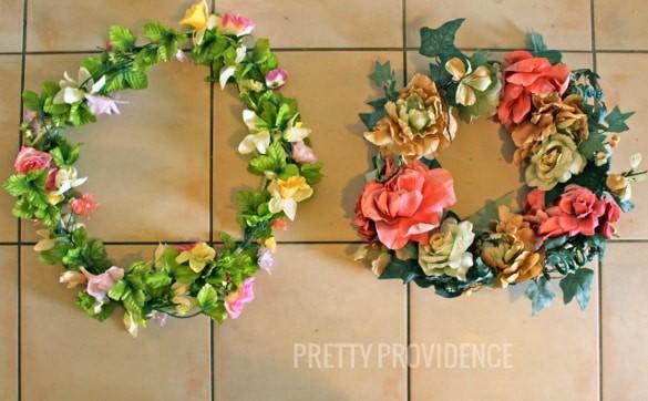 make an old wreath new again!