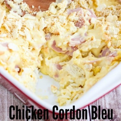 Chicken Cordon Bleu Casserole by Mandy's Recipe Box
