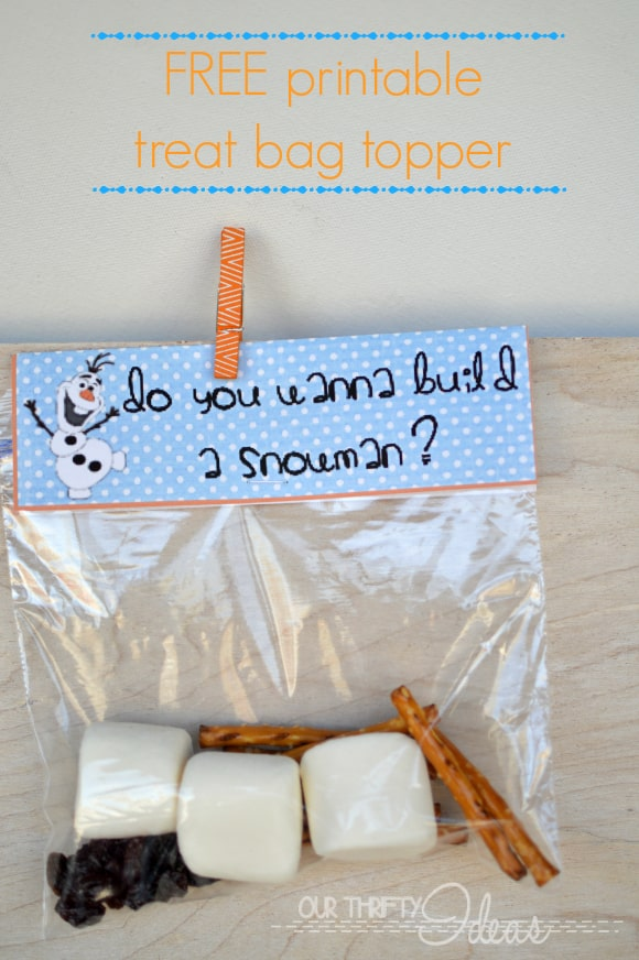 picture relating to Do You Want to Build a Snowman Printable titled Address Bag Toppers - Do Yourself Wanna Acquire a Snowman? - Fairly