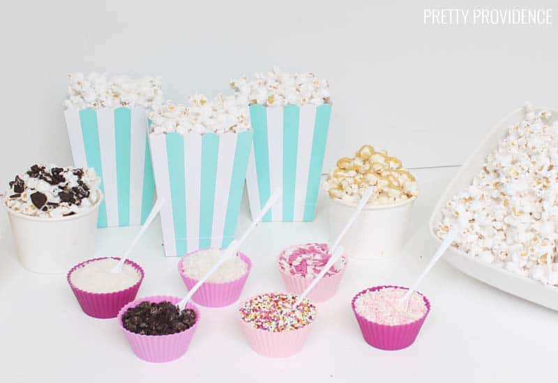 Popcorn Toppings for a Party!