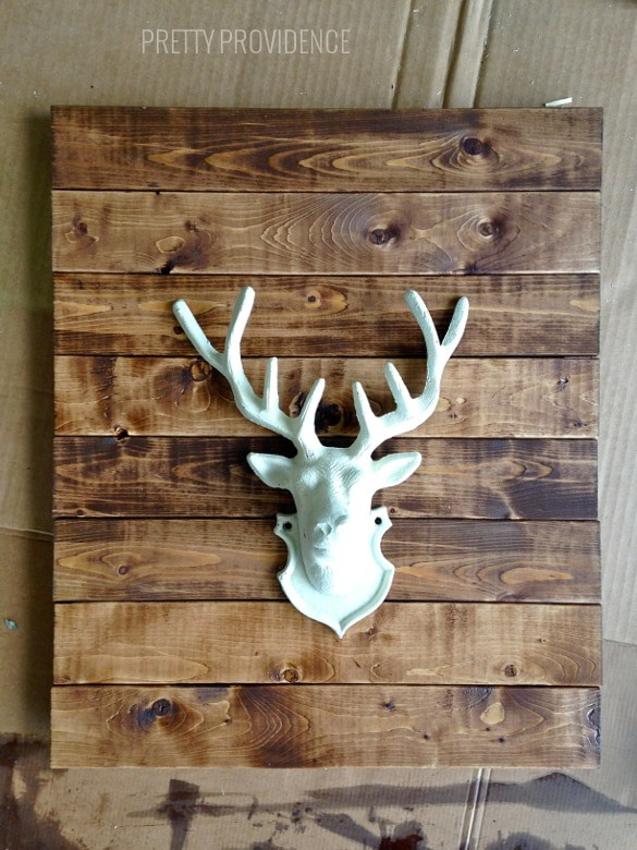 Diy Faux Stag Head Wall Art