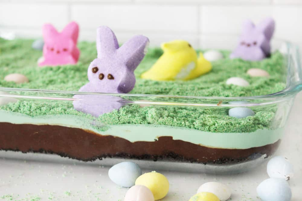 Fun and easy easter dirt cake!