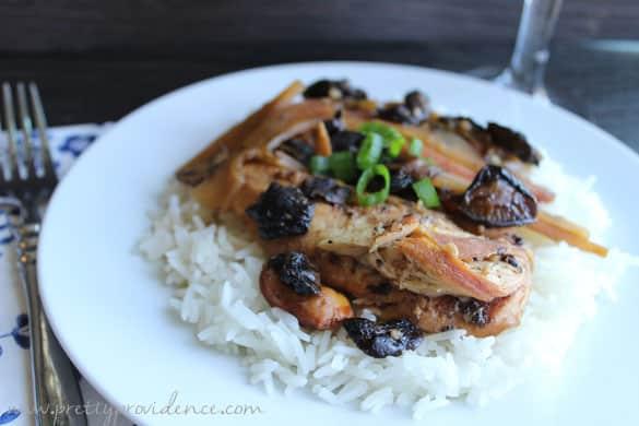 Easy slow-cooker Polynesian chicken!