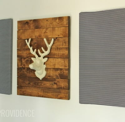 DIY rustic modern wall art
