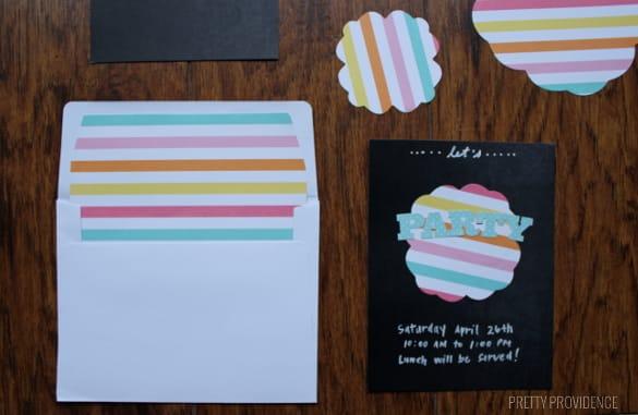 easy chalkboard DIY party invitations