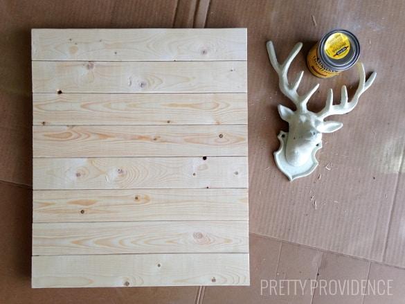 DIY stag head wall art