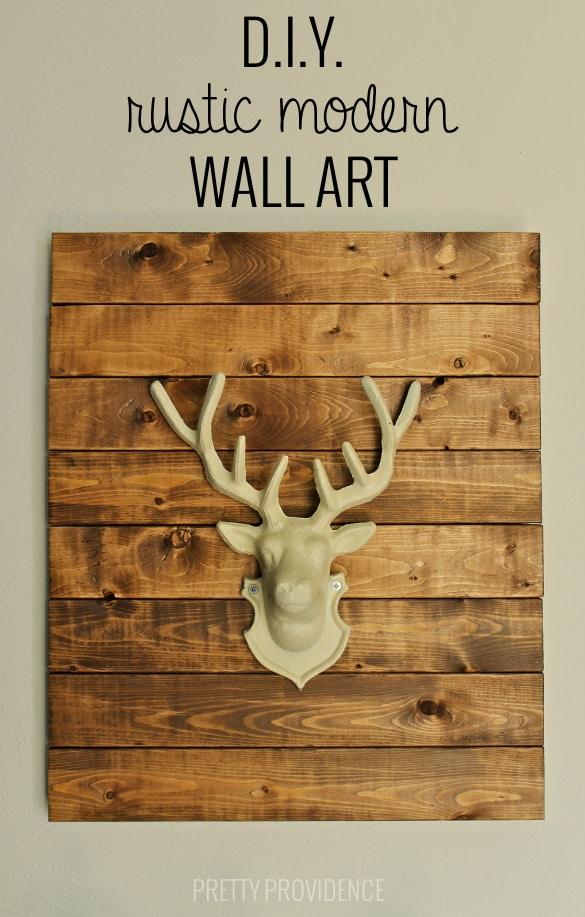 DIY faux stag head wall art!