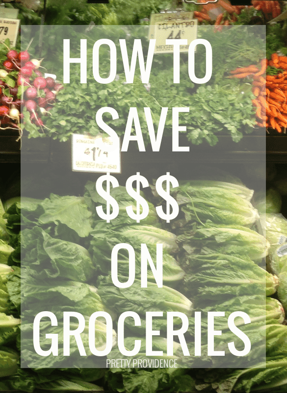 how to save money on groceries!