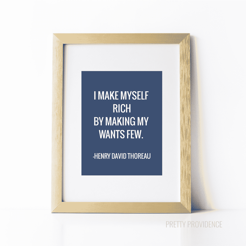thoreau quote - free printable at prettyprovidence.com