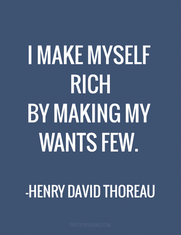 Thoreau was a smart guy.