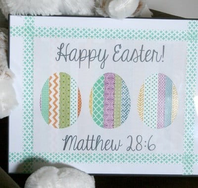 DIY // Washi Easter Art