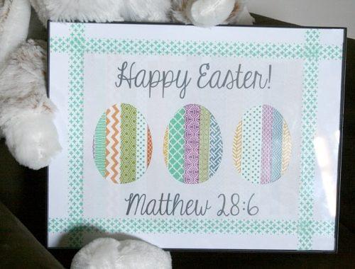 DIY // Washi Easter Art