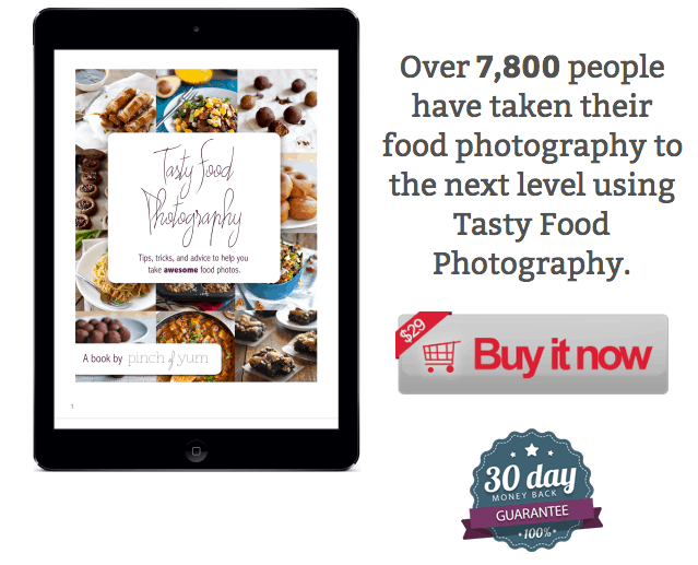Tasty Food Photography Ebook - the BEST food blog photography resource out there!