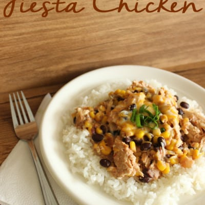 Easy and delicious creamy, slow cooker, fiesta chicken!